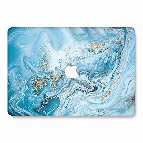 AQYLQ MacBook Schutzhülle/Hard Case Cover Laptop Hülle [Für MacBook 12 Zoll Retina Modell A1534], Plastik Matt Hartschale Schutzhülle, DL69 Blauer Marmor