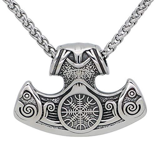 GuoShuang Joyería y Accesorios, Collares y Pulseras, Collares de Abalorios, Collares de Eje, Amuleto súper Natural, nordico, pagano de la wicca, Vikingo, Collar clásico, mamencollar.