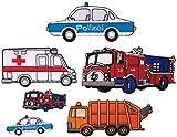 i-Patch - Patches - 0123 - Feuerwehr - Polizei - Müllwagen - Traktor - Krankenwagen - Auto - Aufnäher - Sticker - Badges - Flicken - Bügelbild - Aufbügler - Iron-on - Applikation - zum aufbügeln