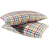 "Cost Plus 100% Cotton Pillow for Sleeping Medium Hard (Pack of 2) (16""X 25"" INCH)"