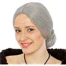 Guirca - Peluca de anciana, color gris (4194)