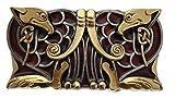 Celtic Birds Gürtelschnalle mit Vergoldung, in einer meiner Präsentationsschachteln. (G/R)