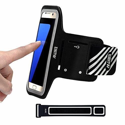 EOTW Brazalete Deportivo para Samsung Galaxy S7/S6/S6 Edge/S5/J5, Huawei P10/P9/Honer 9/P8 Lite, HTC 10, Totalmente Compatible con Todos los moviles hasta 5.1 Pulgada.