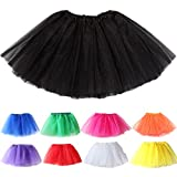 pu ran Cute Girl Princess Fancy Fluffy Dancewear Party Tutu Skirt Ballet Dance Costume size M (Black)