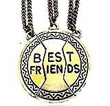 Tre Collane - Ciondoli - Medaglia - Divise - Spezzate - Incastro - Rotte - Parti - Metà - Pezzi - Amicizia - BFF - x 3 - Per 3 - Migliori Amiche - Idea Regalo - Donna - Ragazza - Best Friends