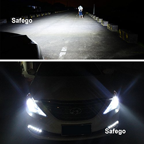 Safego 75W H7 Lámpara LED Kit Bombillas 4Chips 6000LM Alto Low LED Kit de Conversión de Coche 12V Reemplazar Para Luces Halógenas o Bombillas HID Lámpara T1-H7