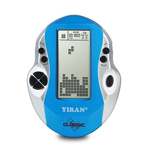 Klassische Tetris Spielkonsole Handheld Spiel, Big Screen, Eingebaute 26 Spiele, gutes Geschenk für Kinder pädagogische Spielzeug (Light blue) (Tetris-spiel Handheld)
