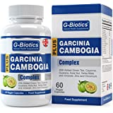 G-Biotics Extracto Garcinia Cambogia Plus Cápsulas para Pérdida de Peso ~ Complejo CALIDAD SUPERIOR con Extracto de Té Verde, Extracto de Capsicum y Cafeína