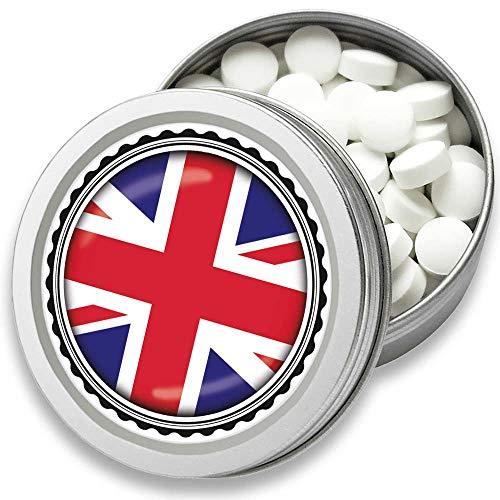 FAN Mint | 3er Set Pfefferminz Bonbons mit Großbritannien Flagge | Geschenk, Souvenir Union Jack Fahne | Bonbon-Dose, Fan-Artikel, Party Deko (Großbritannien)