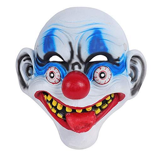 Kostüm Wirklich Gruselige Billig - WJHFF Halloween Karneval Party Joker Maskerade Cosplay Vollgesichts Scary Clown Halloween Maske