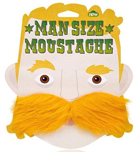 Schnurrbart Und Kostüm Bart - NPW Mann Größe Schnurrbart (blond)