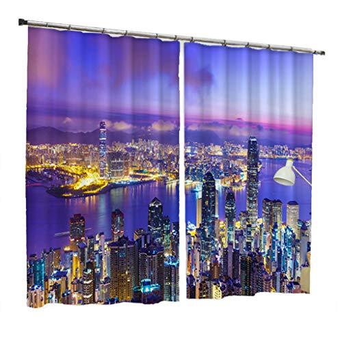 WLHW Vorhänge Thermal Blackout, Fenster S Haken Kunststoffringe Behandlungen Vorhänge für Küche Wohnzimmer Schlafzimmer Bay Home 2 (größe : 1.8x2.7m)