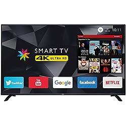 """Trevi UHD 5002 SMART Televisore Smart TV LED 4K Ultra HD 50"""" con Decoder Digitale DVBT-T2 e Satellitare DVBS-S2, Sistema Operativo Android, Risoluzione max 3840 x 2160 dpi Ultra HD"""
