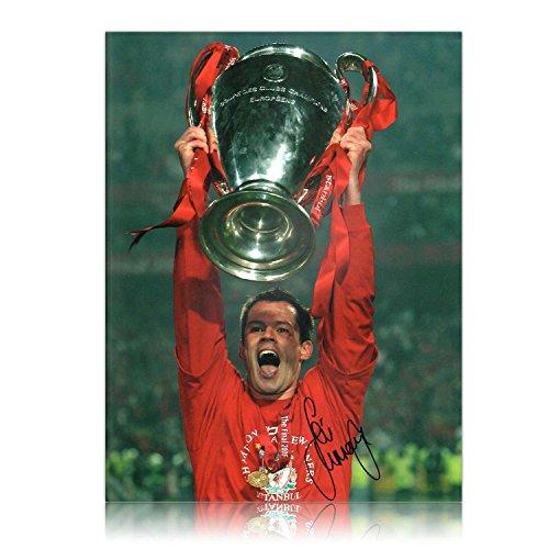 Exclusive Memorabilia - Foto de la final Estambul 2005 de Liga de Campeones de la UEFA con F.C. Liverpool como campeón (firmada por Jamie Carragher)