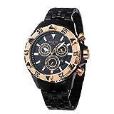 JYJM❤Nordkalender Quarz-Armbanduhr Edelstahl Armband Herrenuhr Luxus Geschäft Klassisch Kleid Gents Uhren für Männer Dare Fitness Armband Pulsuhr Schrittzähler Uhr für Frauen Männer