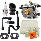 HURI Carburateur Filtre à air Bougie d'allumage Set pour Stihl 024 026 MS240 MS260#...