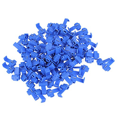 WEONE-Capicorda-Blu-Snap-On-connettore-Crimp-Wire-cavo-elettrico-connettori-rapidi-Splice-Lock-confezione-da-100