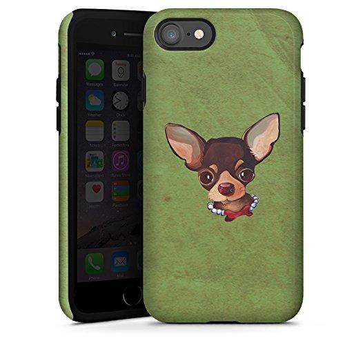 Apple iPhone X Silikon Hülle Case Schutzhülle Chihuahua Hund Dog Tough Case glänzend