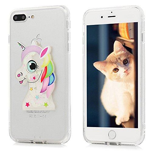 Cover iPhone 7 Plus Glitter Brillanti QuickSand Brillantini - MAXFE.CO iPhone 8 Plus Custodia Sottile ANTIURTO Rigida Plastica con i Bordi Silicone TPU Bumper Case Prottetiva per iPhone 7 Plus / iPhon Animale