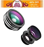 #8: Mpow 3 in 1 Clip-on Lens Kit for Mobile Carmera with 180 Degree Fisheye Lens+10X Macro Lens,+0.67x Wide Angle Lens High Definition for Iphone5/5s/6/6s,Oneplus,Redmi/MI,Vivo,Oppo,Moto,Samsung,Lenovo,Lumia