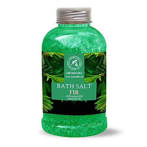 Badesalz Fichte 600g - Meersalz mit Natürlichem Ätherischen Sibirische Fichtennadelnöl - für Guten Schlaf - Stressabbau - Baden - Körperpflege - Wellness - Entspannung - Aromatherapie - von Aromatika