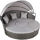 TecTake Aluminium poly rattan sun isle day bed lounger | width: 178 cm | different colours