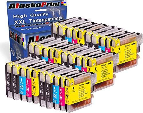 30x Druckerpatronen kompatibel für Brother LC-1100 xl LC1100 xl Brother DCP-145C DCP-163C DCP-165C DCP-167C DCP-185C DCP-195C DCP-365CN DCP-373CW DCP-375CW DCP-377CW DCP-383C DCP-385C DCP-387C DCP-395CN DCP-585CW DCP-6690CW MFC-250C MFC-255CW MFC-290C MFC-295CN MFC-297C MFC-490CW MFC-5490CN MFC-5890CN MFC-6490CW MFC-6690CW MFC-6890CDW MFC-790CW MFC-795CW MFC-990CW Tinte Drucker Patrone mit Chip Füllstandsazeige