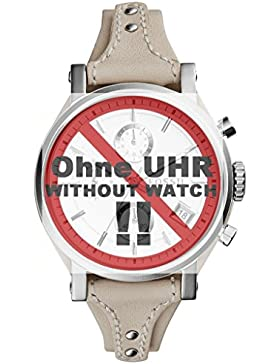 Fossil Uhrband Wechselarmband LB-ES3811 Original Ersatzband ES 3811 Uhrenarmband Leder 18 mm Beige