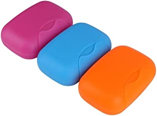 Inovera Travel Soap Holder Organiser Box Case 3 pcs, Assorted Colour (Soap Holder)