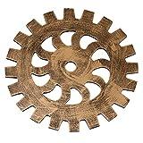 Jipai(TM) Industrial Vintage Steampunk Equipo de Madera Colgante de Pared para Casa Bar Cafetería Oficina DIY Arte Antiguo Decoración de Engranaje (Dorado, 14cm)