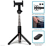ZAAP (USA) NUSTAR6 Aluminium Premium Bluetooth Monopod Selfie Stick with in-Built Tripod 2018 (Black)