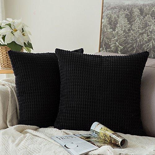 MIULEE Cord Weiches Massiv Dekorativen Quadratisch Überwurf Kissenbezüge Kissen für Sofa Schlafzimmer Auto 18