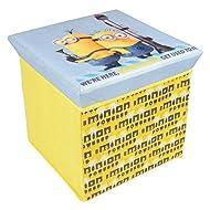 MINIONS - Baúl guardajuguetes con asiento de espuma de Minions