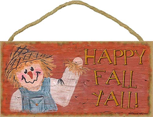 ll Vogelscheuche Halloween Fall Holz hängende Schild Schöne Schild 15,2x 33cm ()