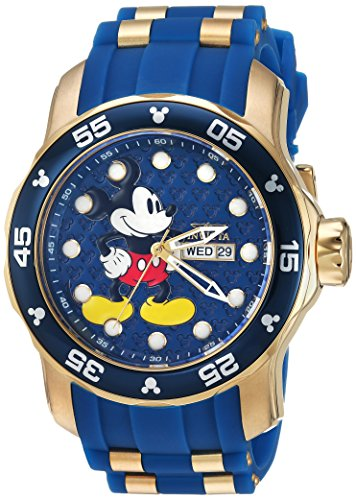 Invicta 23764 Disney Limited Edition - Mickey Mouse Herren Uhr Edelstahl Quarz blauen Zifferblat