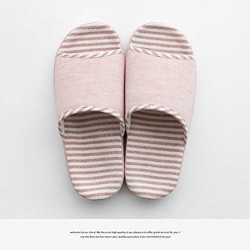 DogHaccd pantofole,La fine del bacino in estate home pantofole uomini durante la primavera e autunno il giorno in camera di spessore, antiscivolo casa usura pantofole femmina Rosa chiaro3