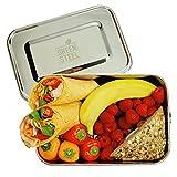 Green Steel Abverkauf - Produktionsfehler möglich XXL Edelstahl Lunchbox (2400 ml | Silber) | Umweltfreundliche Große Brotbox Togo, Brotdose für Kinder & Erwachsene - Nicht spülmaschinenfest