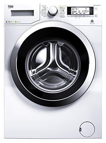 Beko WMY 81683 PTLE Waschmaschine / A+++ / 1600 UpM / 8kg / 9900L/Jahr / Automatische Unwuchtkontrolle / weiß / Weißes LC-Display / Aquawave-Schontrommel / 34 cm XL- Einfüllöffnung / Mengenautomatik / Watersafe+