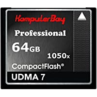 Komputerbay 64GB Professionelle Compact Flash-Karte CF-1050X WRITE 100 MB / s lesen 160MB / S Extreme Speed ​​UDMA 7 RAW 64 GB