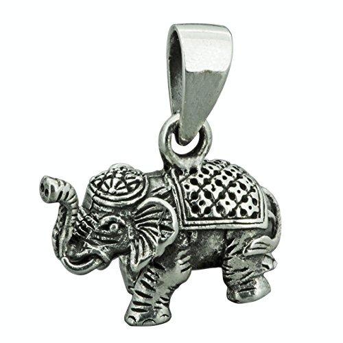 Elefante Colgante 3d Plata con sello 925sólida esterlina Elefanten 7,4G beldiamo