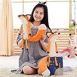 XuBa 1pcs Orange Der kleine Prinz Plüschpuppen, der kleine Prinz und der Polarfuchs ausgestopfte Tiere Plüsch Bildungsspielzeug für Baby as picture show