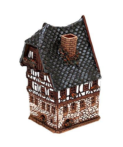 Keramik Teelichthaus Lichterhaus Fachwerk Dürer Haus in Nürnberg 15 cm