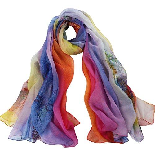 serviette de plage Châle à la mode en mousseline de soie châle ( Couleur : #1 ) #3