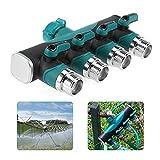 MRSLIU Schlauchverteiler - 4-Wege-Heavy-Duty der Anschluss, der Split und Einige Mehr Teilt Großer Wasserhahn Verteiler Fitting Für Tropfbewässerung Timer und Rasen