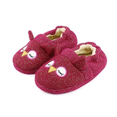 LACOFIA Pantofole Bambina Invernali Scarpe da casa Antiscivolo Animali Invernali Bambini...