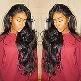 BaZhaHei peluca rizada sin cola pelucas llenas del cordón mujeres negras remy del frente del cordón del pelo humano Peluca frontal de fibra química de encaje Belleza de Maquillaje Masajes para Mujer
