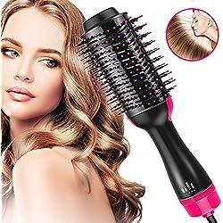 Brosse Soufflante, OMID Brosse Lissante,1000W Brosse Chauffante, One-Step Sèche Cheveux Volumisant pour Tous Types de Cheveux [Température Réglable] [Anti-Brûlure] [Chauffage Rapide]