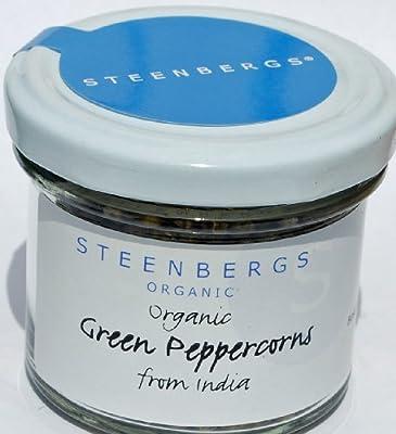 Organic Green Peppercorns Standard Jar - 23g from Steenbergs