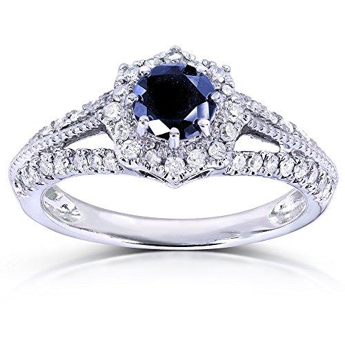 Vintage Sapphire & Diamond Anillo de compromiso 1quilates (quilates)