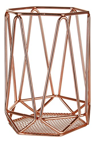 Premier Housewares Vertex Utensil Holder - Copper Plated